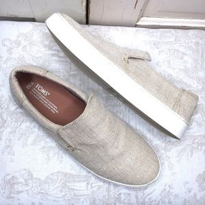 Toms Natural Canvas Slip On Shoes